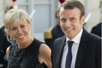 Макрон Эммануэль с женой в молодости и сейчас
