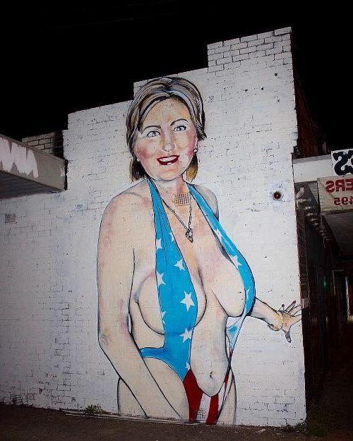 граффити в купальнике