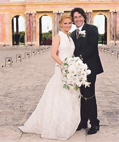 на своей свадьбе