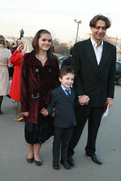 с сыном и дочерью