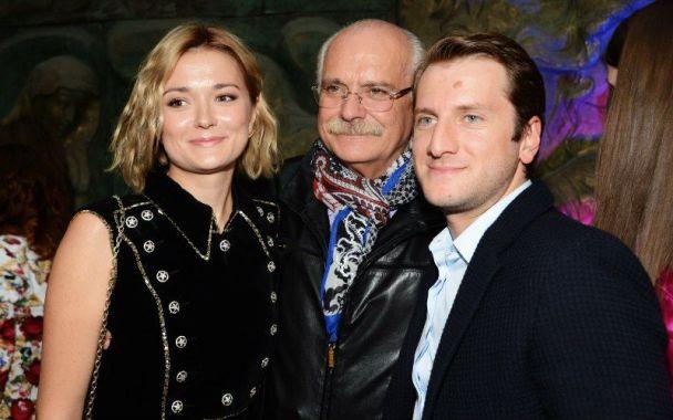 михалков с дочерью и ее мужем