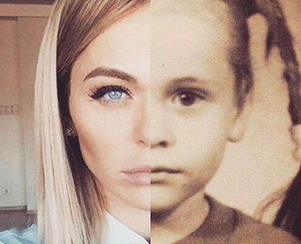 лицо в детстве и сейчас