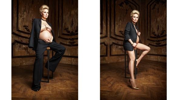 модель дочь беременная