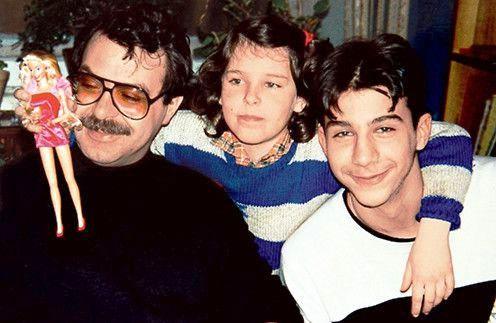 с папой и братом