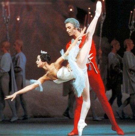с мужем в балете