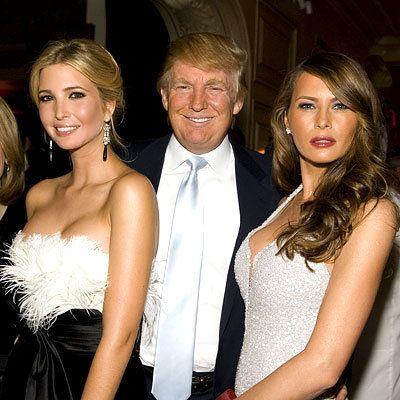 трамп с дочерью и женой